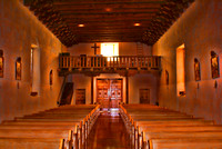 Inside Holy Cross Church, Espanola, NM